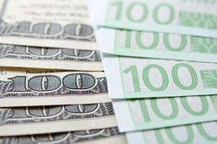 обмен usd евро Стоковое фото RF