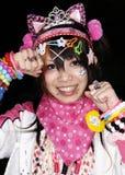 обмундирование cosplay девушки японское представляет токио Стоковое фото RF