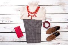 Обмундирования женщин моды установленные стоковое фото