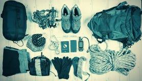 Обмундирование путешественника, альпиниста, студента, подростка Накладные расходы esse Стоковое фото RF