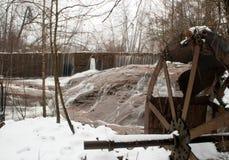 Обмылки мельницы Woodward на день крышки снега в Georgia Стоковое фото RF