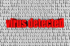 Обнаруженный вирус иллюстрация штока