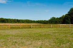 Обнесенный забором луг Стоковое фото RF