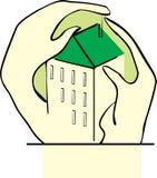 обнимать дом рук Стоковые Фотографии RF