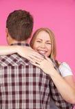 обнимать женщину человека Стоковая Фотография RF