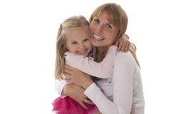 Обнимать матери и дочи стоковое изображение