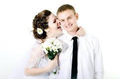 Обнимать пар свадьбы, Стоковое Изображение RF