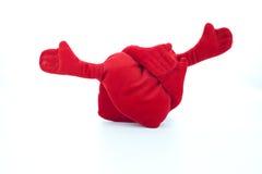 Обнимать сердца плюша Стоковая Фотография RF