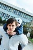 обнимать сынка отца Стоковые Изображения RF