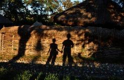 Обнимать тень любовников Стоковое Изображение RF