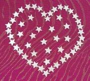 обозначает сердце звездочкой серебристое Стоковые Изображения
