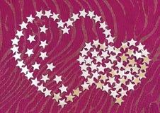 обозначает сердце звездочкой серебристое Стоковая Фотография