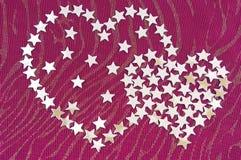 обозначает сердце звездочкой серебристое Стоковые Фотографии RF