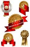 обозначьте наградной комплект качества Стоковые Фотографии RF