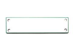 обозначьте прямоугольную белизну Стоковые Фотографии RF