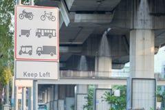 Обозначьте тип автомобиль силы в движении которое установлено на дорогу стоковое изображение rf
