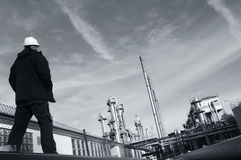 обозревать газовое маслоо Стоковая Фотография