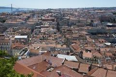 Обозревать город Лиссабона, Portigal стоковое изображение rf