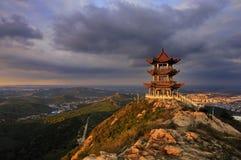 Обозревать заход солнца mountains2 Стоковое Изображение