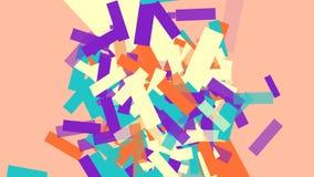 Обои беспорядка прямоугольников красочные иллюстрация штока