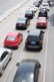 обои вектора движения варенья автомобилей асфальта безшовные Стоковое Изображение RF