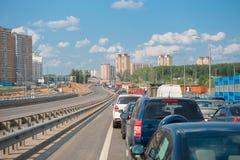 обои вектора движения варенья автомобилей асфальта безшовные Стоковое Фото