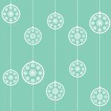 обои голубого рождества baubles безшовные Стоковая Фотография
