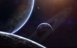 Обои космоса научной фантастики, неимоверно красивые планеты, галактики Элементы этого изображения поставленные NASA Стоковое фото RF
