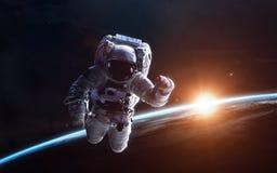 Обои космоса научной фантастики, неимоверно красивые планеты, галактики Элементы этого изображения поставленные NASA Стоковая Фотография