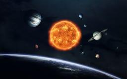 Обои космоса научной фантастики, неимоверно красивые планеты, галактики Элементы этого изображения поставленные NASA Стоковая Фотография RF