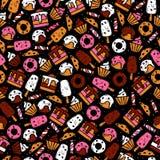 Обои нарисованные рукой еды десерта Стоковое Фото