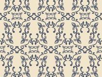Обои орнамента текстуры вектора винтажные флористические Стоковая Фотография