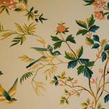 Обои печати птицы & цветка Стоковая Фотография RF