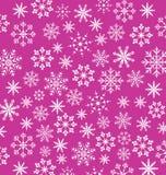 Обои пинка Noel, текстура снежинок Стоковые Изображения