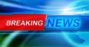 Обои предпосылки новостей Название последних новостей на голубой предпосылке иллюстрация штока