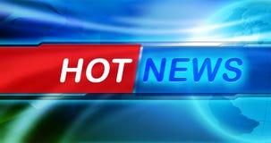 Обои предпосылки новостей Название самой новости большое в центре знамени, голубой сияющей предпосылки и глобуса земли иллюстрация вектора