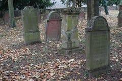 Обои предпосылки надгробной плиты кладбища Jewisch Стоковое Изображение