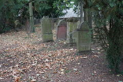 Обои предпосылки надгробной плиты кладбища Jewisch Стоковая Фотография RF