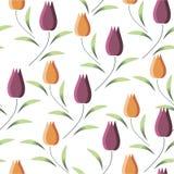 Обои предпосылки с тюльпанами весны также вектор иллюстрации притяжки corel Стоковая Фотография RF