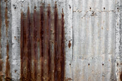 Обои плиты цинка ретро стиля ржавые Стоковое Фото