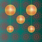 обои рождества baubles Стоковое Изображение