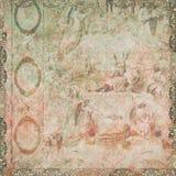 обои сбора винограда ангелов флористические Стоковые Фото