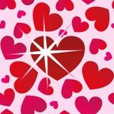 обои сердца безшовные Стоковые Изображения