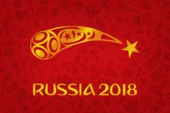 Обои 2018 - турнир кубка мира футбола мира в r Стоковые Фотографии RF