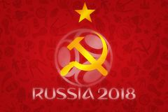 Обои 2018 - турнир кубка мира футбола мира в r Стоковое фото RF