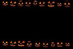 Обои тыкв хеллоуина Стоковое Изображение