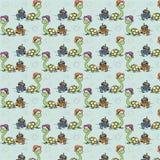 Обои характера Cartoony младенца черепахи Стоковое Изображение RF
