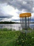 Обои черни гольфа диска Стоковое Фото