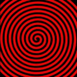 Обои черного красного круглого абстрактного вортекса гипнотические спиральные иллюстрация вектора