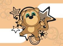 Обои шаржа обезьяны Стоковые Изображения